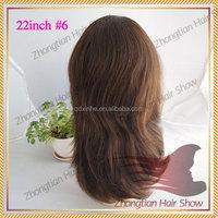 22inch #6 layer style human hair jewish wig with virgin human hair 100% european human hair kosher wig