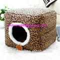 gato de la casa nido anfibio de leopardo de impresión de la casa