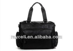 Fashion big volume leisure pu leather tote bag men wholesale in factory prices