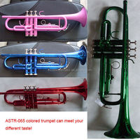 plastic material colorful trumpet for students at cheap price for sales
