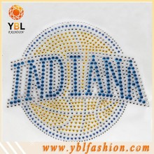 Low Lead Flat Rhinestone Round Motif Applique for University