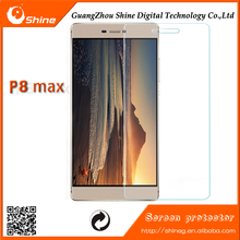 High quality 9H Anti shock tempered glass screen guard fit for Huawei P8 max, tempered glass screen protector