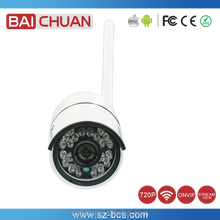 Battery Powered Wireless HD Bullet P2P Wifi 1MP IP Camera
