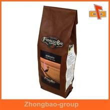 Heat sealed side gusset plastic coffee packs with custom printing