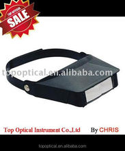 New style headband lighted visor magnifier promotion gift and outdoor using