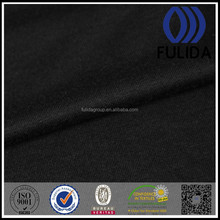 W4734 Black single jersey, polyester rayon spandex knitted fabric