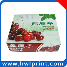 Off-set printing thick paper packing box cherries fruit packing
