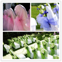 china supplier cheap and polyester organza chair sashes for wedding and banquet