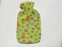 2000ml BS rubber hot water bag fleece cover in dot design