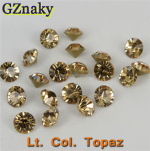 Size ss20 Lt. col. topaz Middle East shiny glass chaton stones