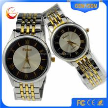 fashion alloy watch , sapphire watch quartz , lover couple gold watch