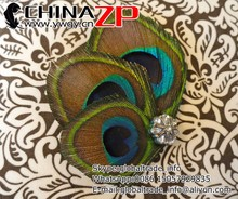 New arrival mini clips for bride simple design Peacock Feather Hair Clips
