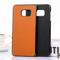 PU Leather Plastic Skin Hard Cover Case For Samsung Galaxy S6 Edge Plus