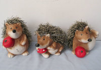 Stock pottery Hedgehog coin box