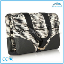 for European market newest lady fashion handbag with zebra grain print