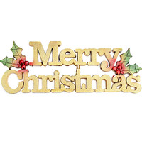 Special Offer Fashion Design Gold Merry Christmas Decor Festival Party Tree Hanging Decoration Christmas Letter Card Ornaments