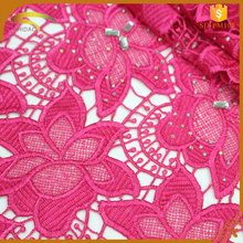 custom women dress fabric embroidery beaded lace fabric for lace wedding dresses