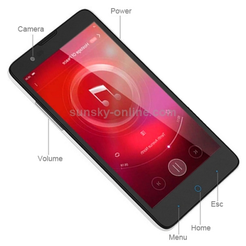 Envío de la gota de zte v5s/n918st 8gb 5 pulgadas capacitiva de la pantalla del teléfono android