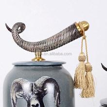 de haute qualité hot vente real horn artisanat décoratif animal sculpture