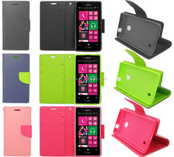 For Nokia Lumia 521 MetroPCS Flip PU Leather Wallet Pouch Case Cover