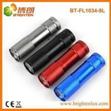Bulk Cheap Aluminum led Torch, 9 led Torch, 9 led Flashlight for Sale