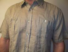 Men's half sleeve Linen shirt