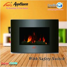 LED flame wall mounted electric fireplace