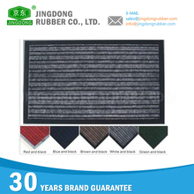 Custom fitness thick pvc double stripe door mat