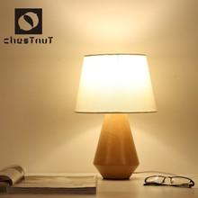 Modern vintage fancy style wood decorative led table lamp desk light decoration