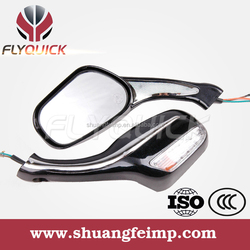 FLYQUICK motorcycle motorbike racing bike side mirror with light for mirror for YAMAHA ZY125