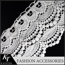 Eyelet Whole Sale Yard Lace Band Trim/Factory Price Lace Trimming for Dress