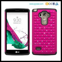 Hot seller hybrid combo bling bling crystal star case for LG G4 Vista / p1 vista , pc silicone case for LG G4 Vista / p1 vista