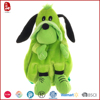 Beautiful green plush stuffed toy dog bag for kids 2015 new design