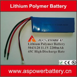 rc lipo batteries 11.1V 15C high discharge rate