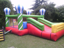 Hot Air Balloon Inflatable Bouncer with Slide for Sale