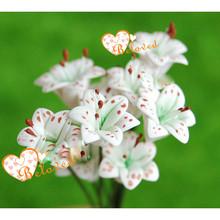 Casa de muñecas de jardín de hadas flor 1/12 en miniatura casa de muñecas de arcilla flor de lirio blanco