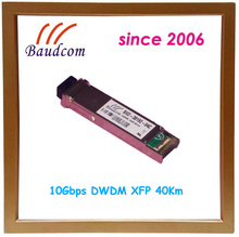 10Gbps DWDM XFP 40Km fiber optic transceiver with 1563.86nm wavelength