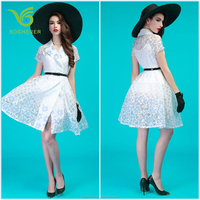 Fashion white hot sale frock design girls dresses