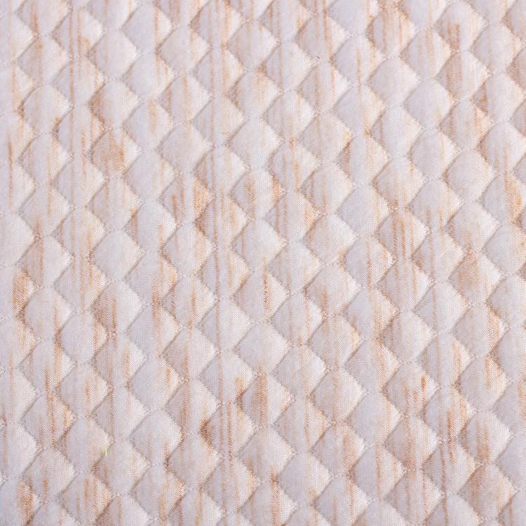 중국 도매 90 폴리 에스테르 10 레이온 뜨개질 자카드 공기 레이어 직물