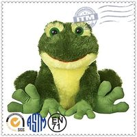 Promotional Logo Customized cute plush toy frog with heart