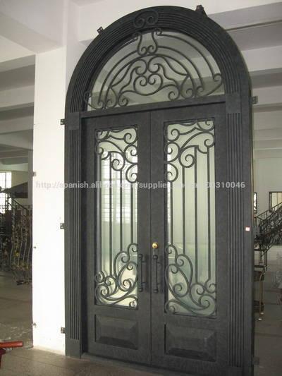 Forjado puerta de entrada de hierro con tansom - Puertas de entrada de hierro ...
