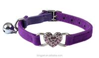 New Pet Products Beautiful Bling Heart Cat shock Collar