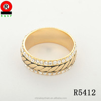 Classic new design Indian Gold rings Diamond Finger rings wedding bands sets for women with price