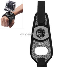 Sexy Leopard 360 Degree Rotation Arm Belt / Wrist Strap + Connecter Mount for Go Pro