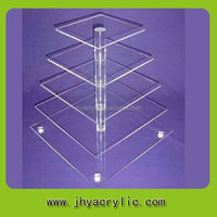 Special new arrival cake rack/7 tier square acrylic cupcake cake stand