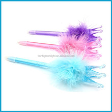 Crown Ball Pen/Feather Ballpoint Pen/Novelty ball pen