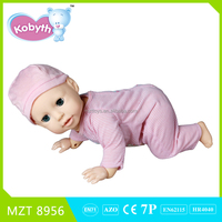 2015 New !Own design High Quality PVC Voice Control Crawl Sit Walk Newborn Baby Funny Doll