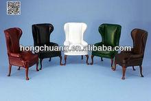 1/12 modelo a escala de muebles sofá de cuero