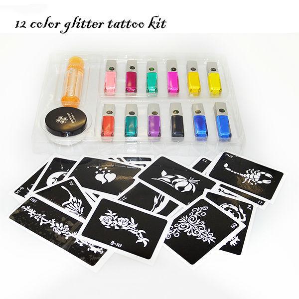 20 glitter tattoos glitter poeder tijdelijke tatoeages for Tattoo supplies wholesale