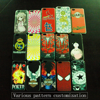 Customized Cheap UV Print Various Patten Case TPU PC Soft Slicone Case Cover for iphone 5/6/6 Plus/6s/6s Plus
